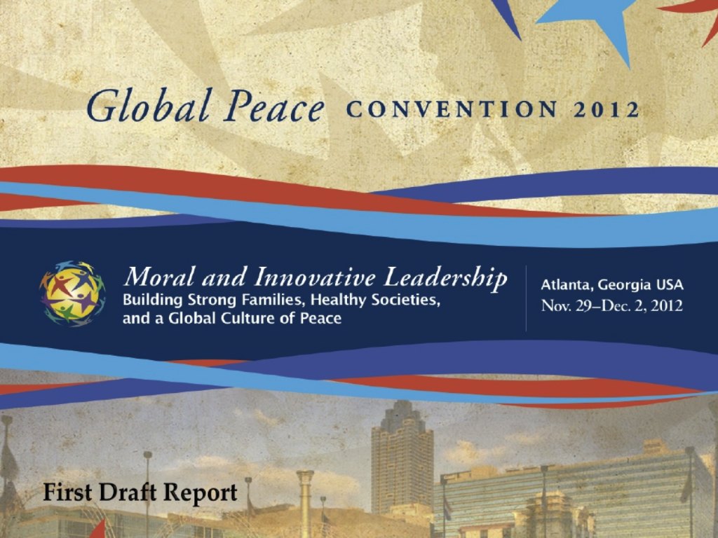 Global peace convention 2012