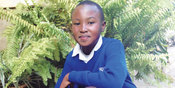Stephen Njoroge has been dubbed Mattai's successor at the age of 12 for planting 10,000 trees through the We Care Club at his school. He was recognized last year at the UN International Day of Peace. (Photo credit: SARA MOJTEJEDZADEH, Nation Media Group)