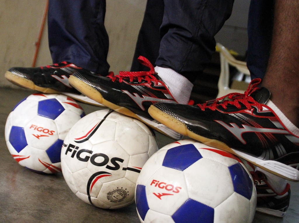 midnight football sponsored shoes from Figos