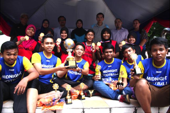 Midnight football participants