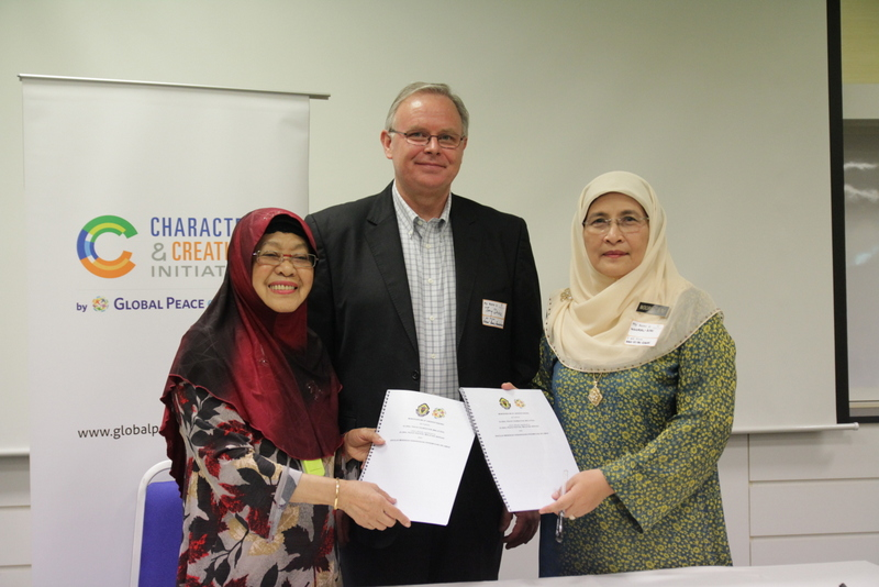 Tony Devine, Tan Sri Zaleha, Character & Creativity Initiative