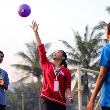 youth playing ball