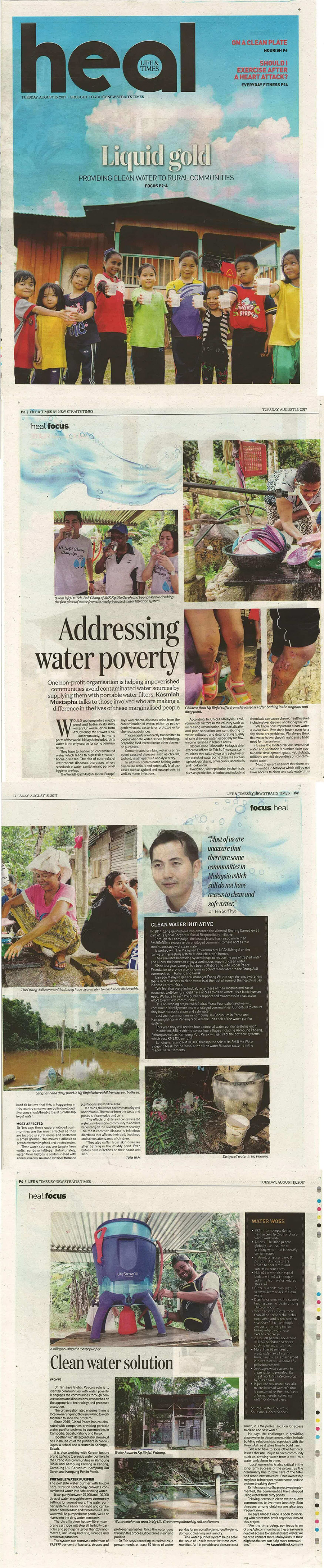 Addressing water poverty - New Straits Times