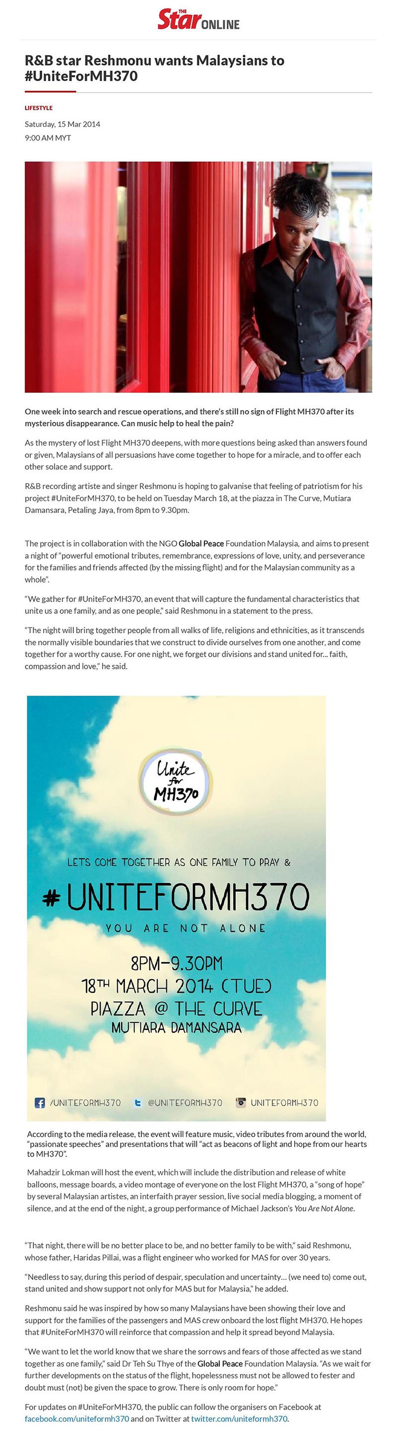 Unite for MH370
