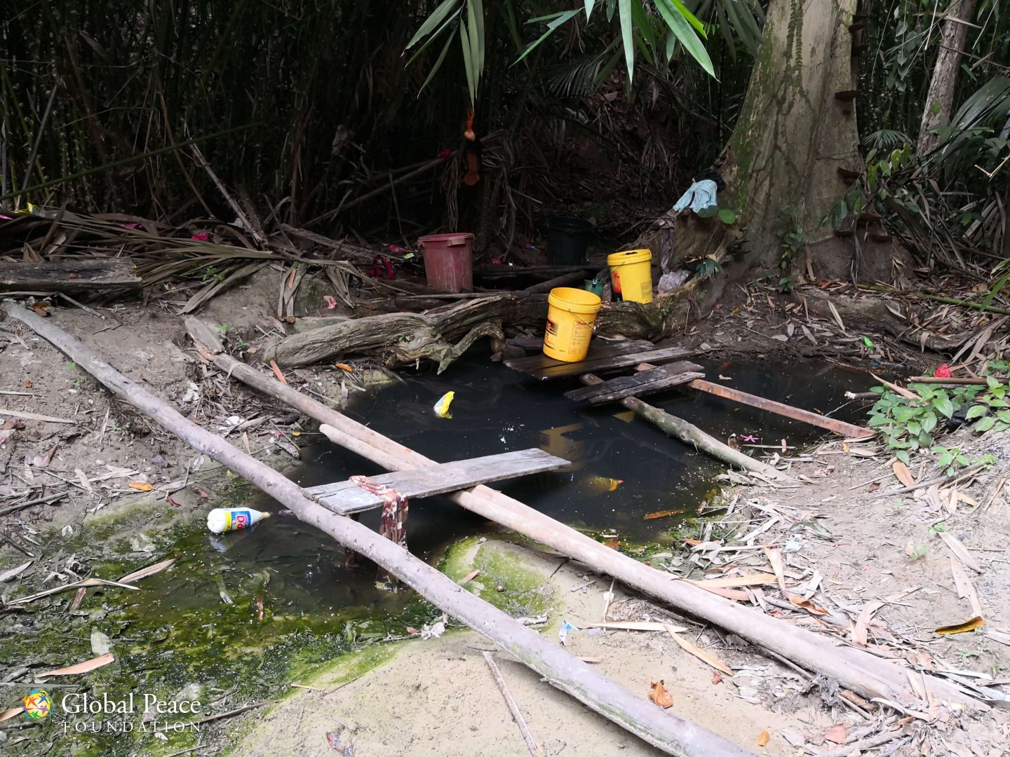 Water source in orang asli village